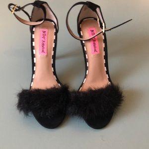 Betsy Johnson fluffy heels